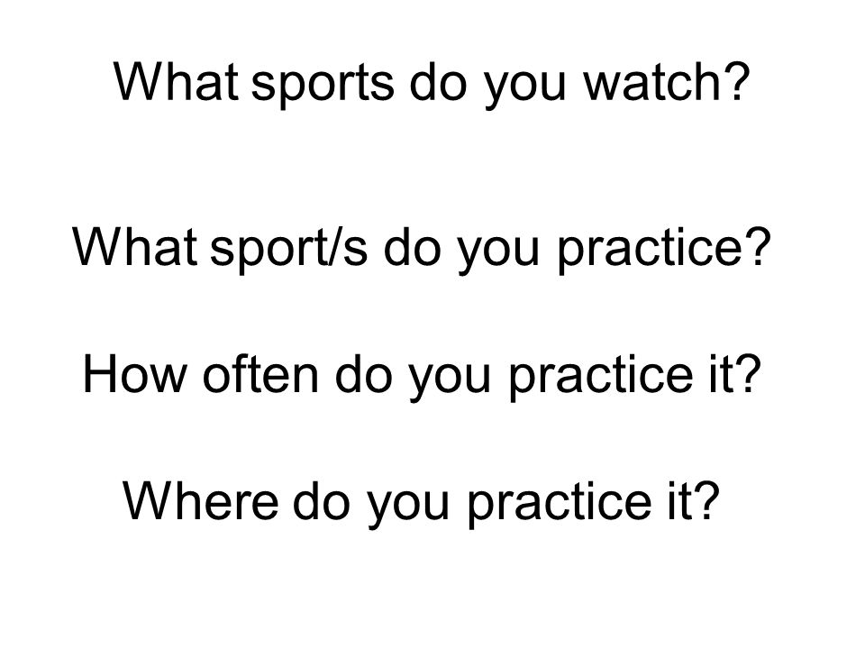 What sports do you watch