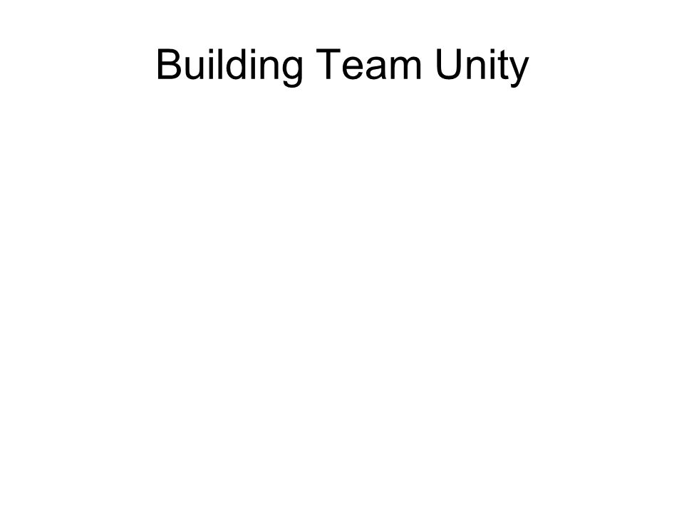 Building Team Unity