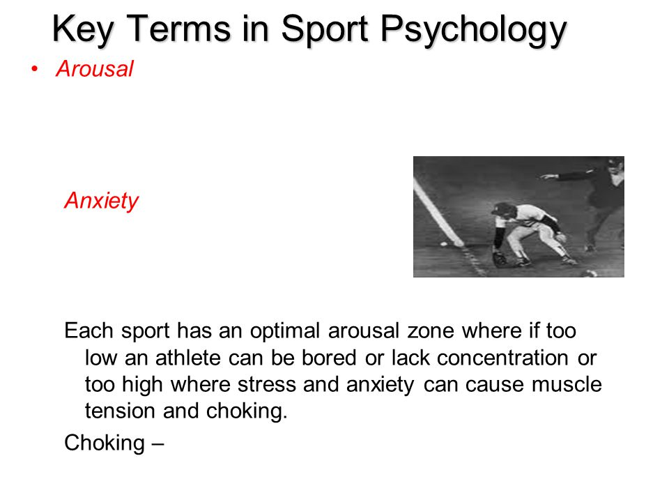 Key Terms in Sport Psychology