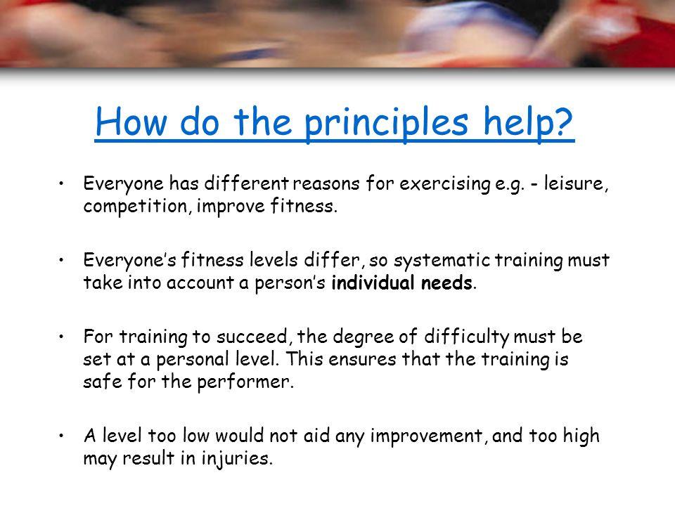 How do the principles help