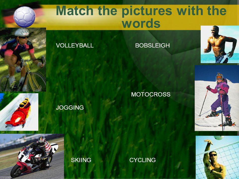 Match the pictures with the words