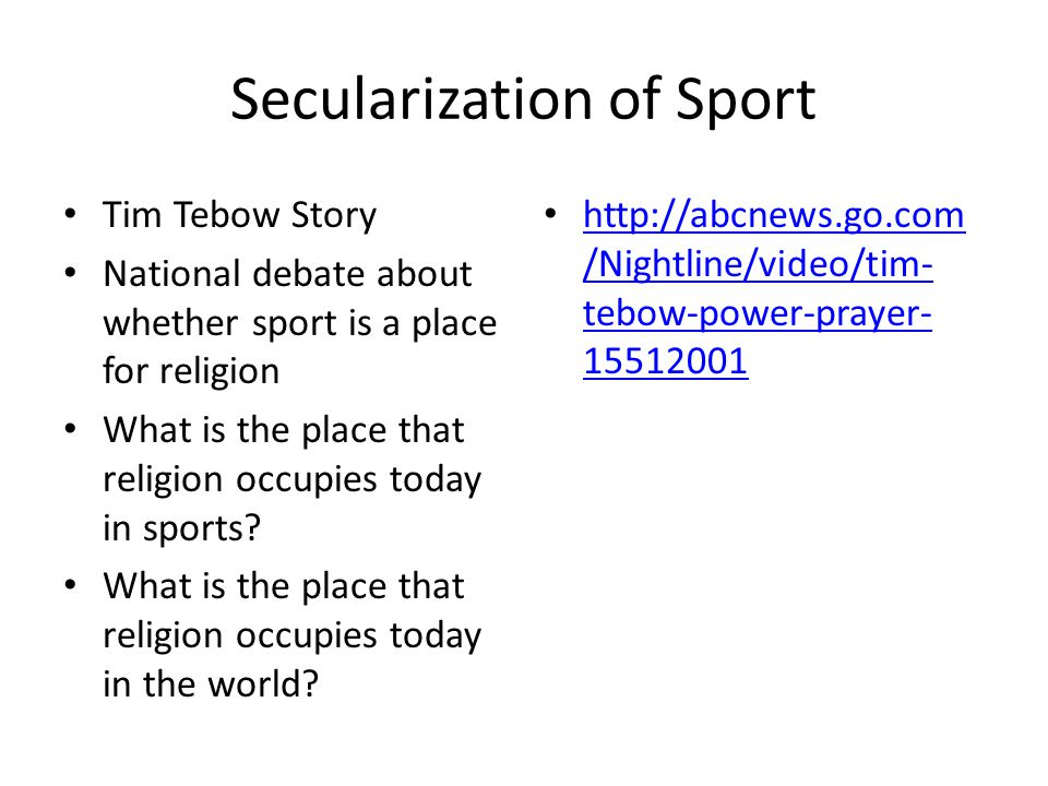Secularization of Sport