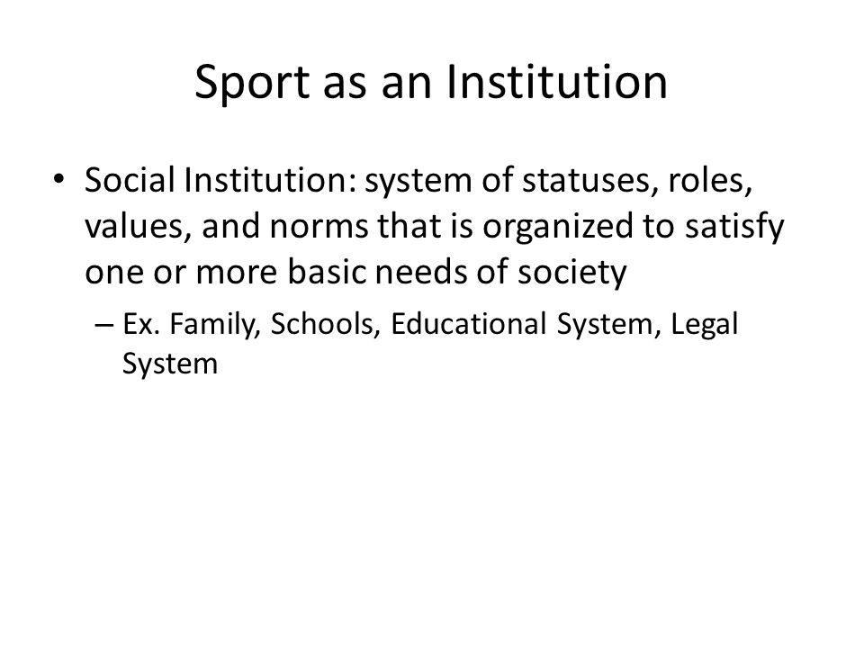 Sport as an Institution