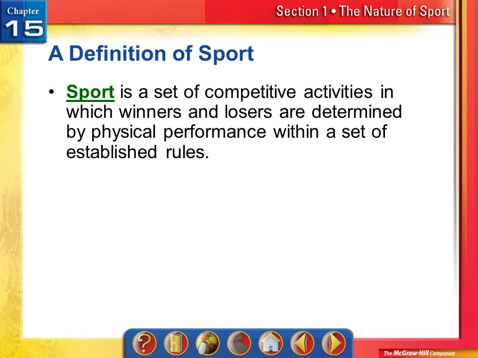 A Definition of Sport
