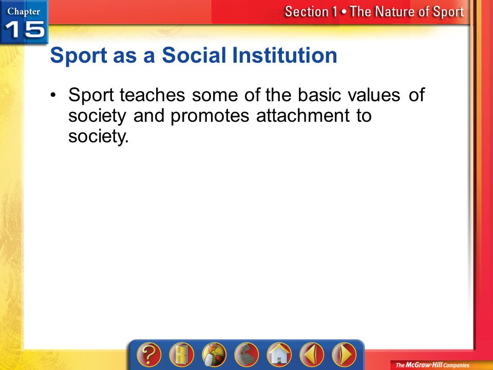 Sport as a Social Institution
