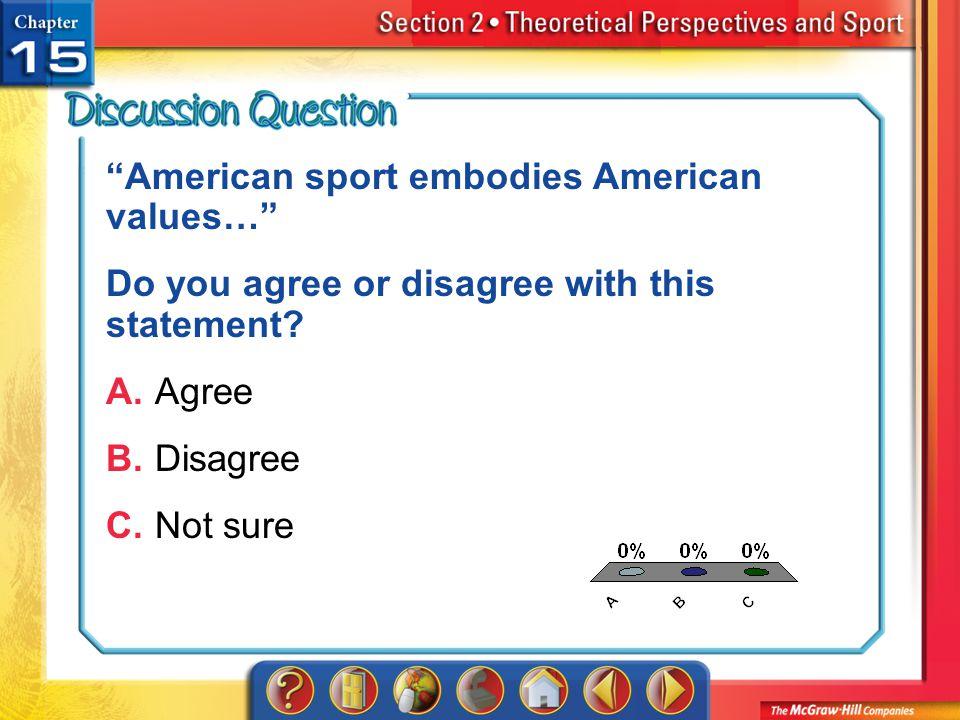 American sport embodies American values…