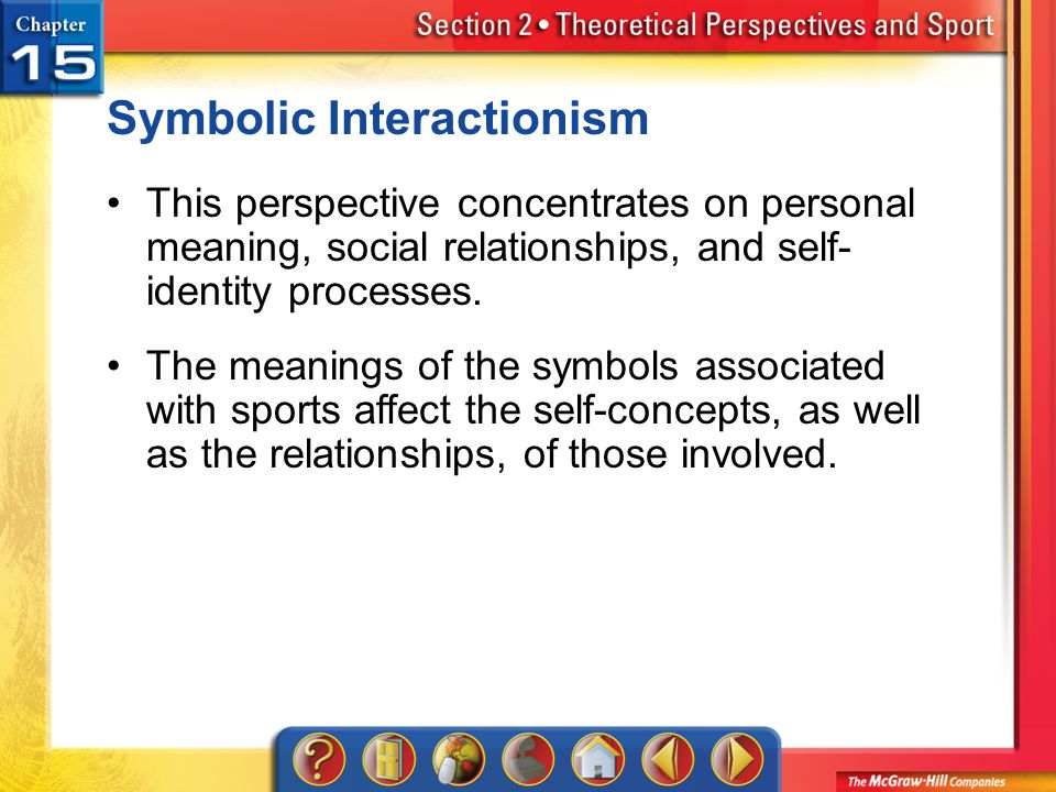 concepts of symbolic interactionism Symbolic interactionism that the media wield great power in society  these two  concepts are foundational in the development of the symbolic.