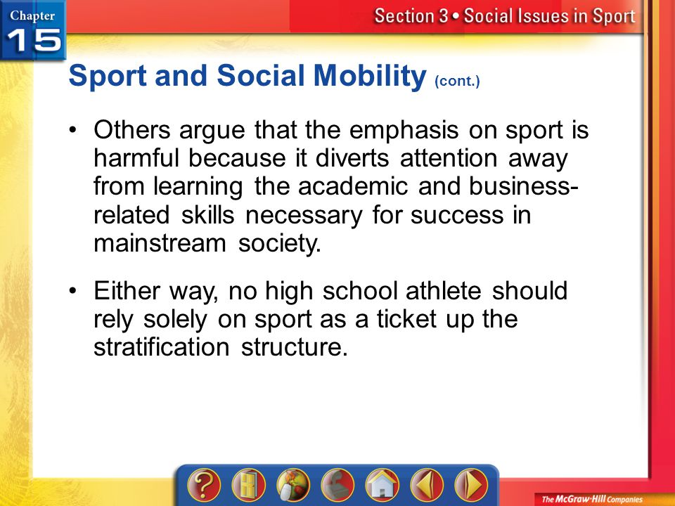 Sport and Social Mobility (cont.)