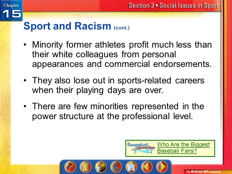 Sport and Racism (cont.)
