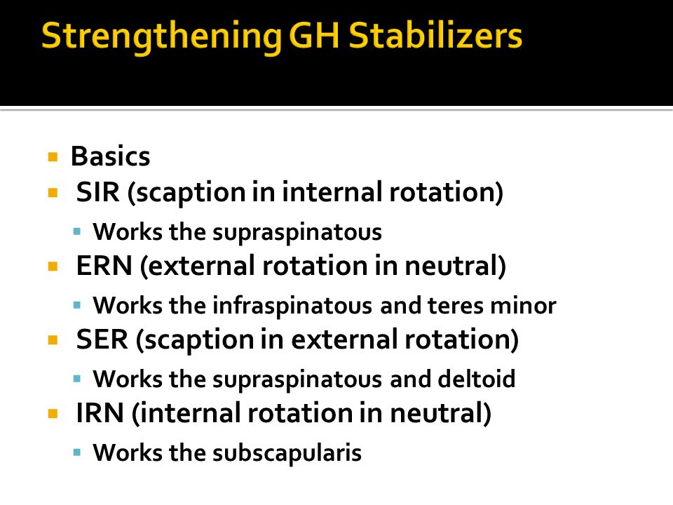 Strengthening GH Stabilizers