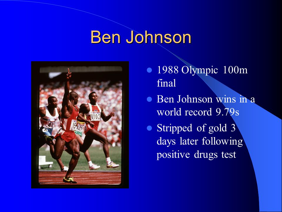 Ben Johnson 1988 Olympic 100m final