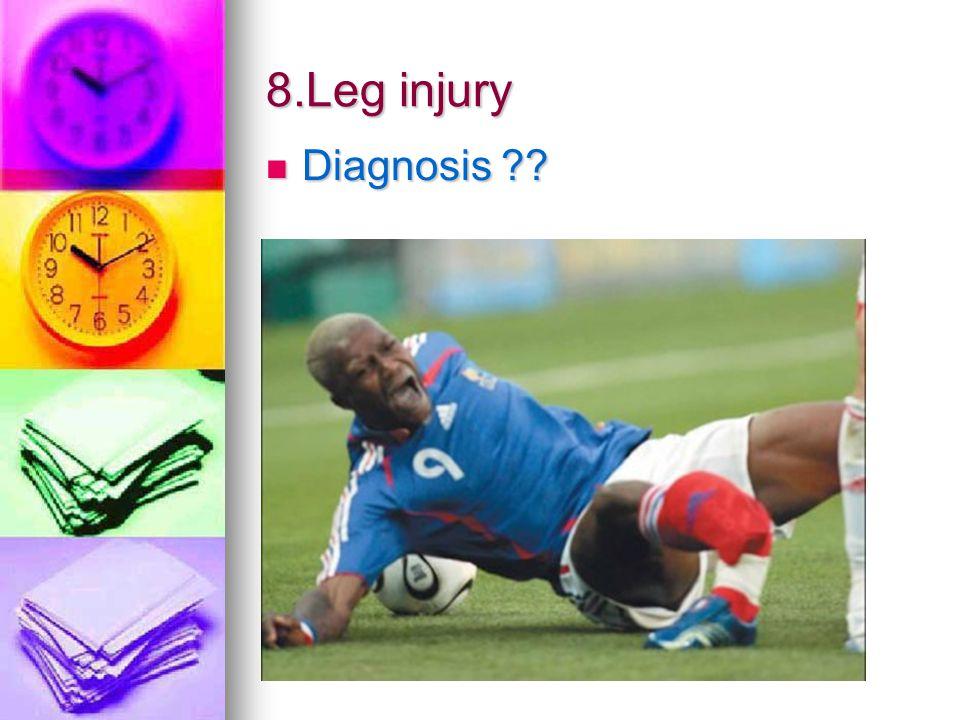 8.Leg injury Diagnosis