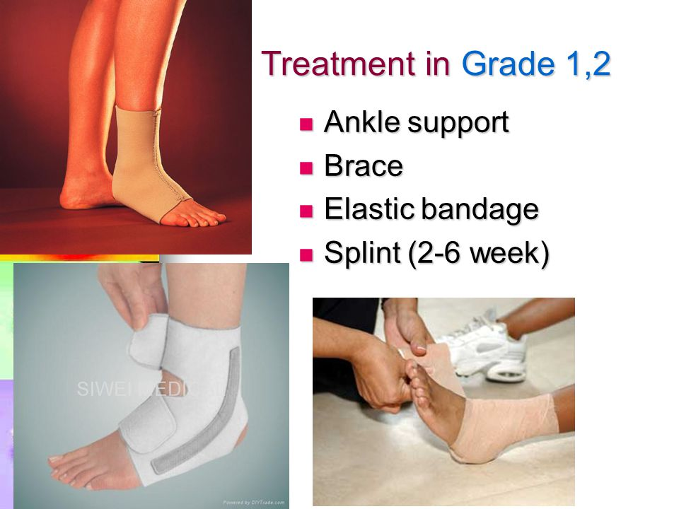 Treatment in Grade 1,2 Ankle support Brace Elastic bandage
