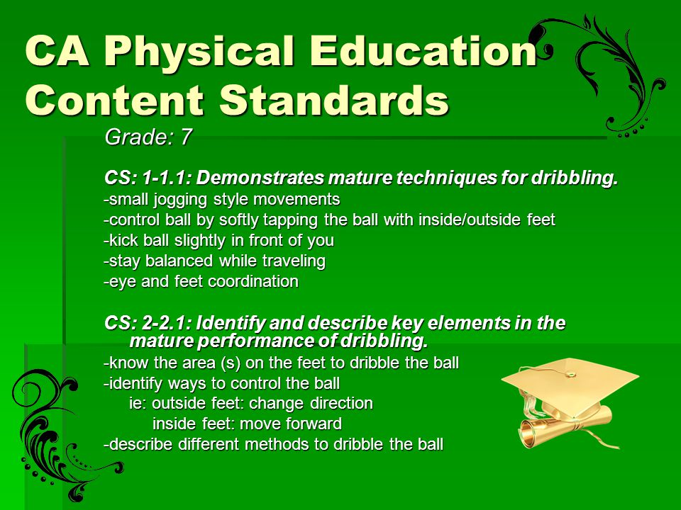CA Physical Education Content Standards