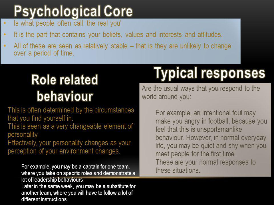 Role related behaviour