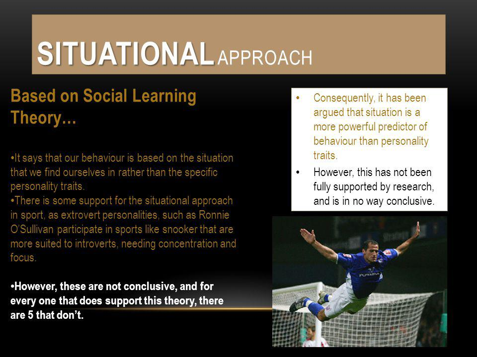 Situational Approach Based on Social Learning Theory…