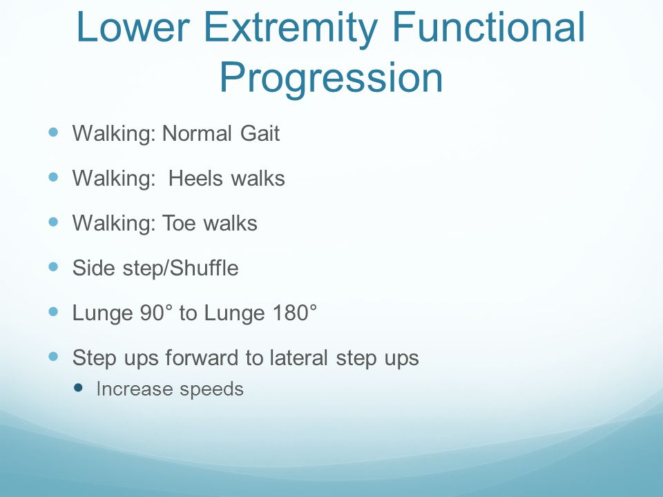 Lower Extremity Functional Progression
