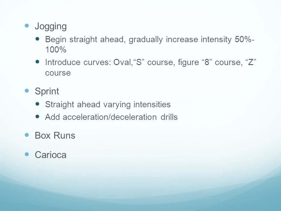 Jogging Sprint Box Runs Carioca