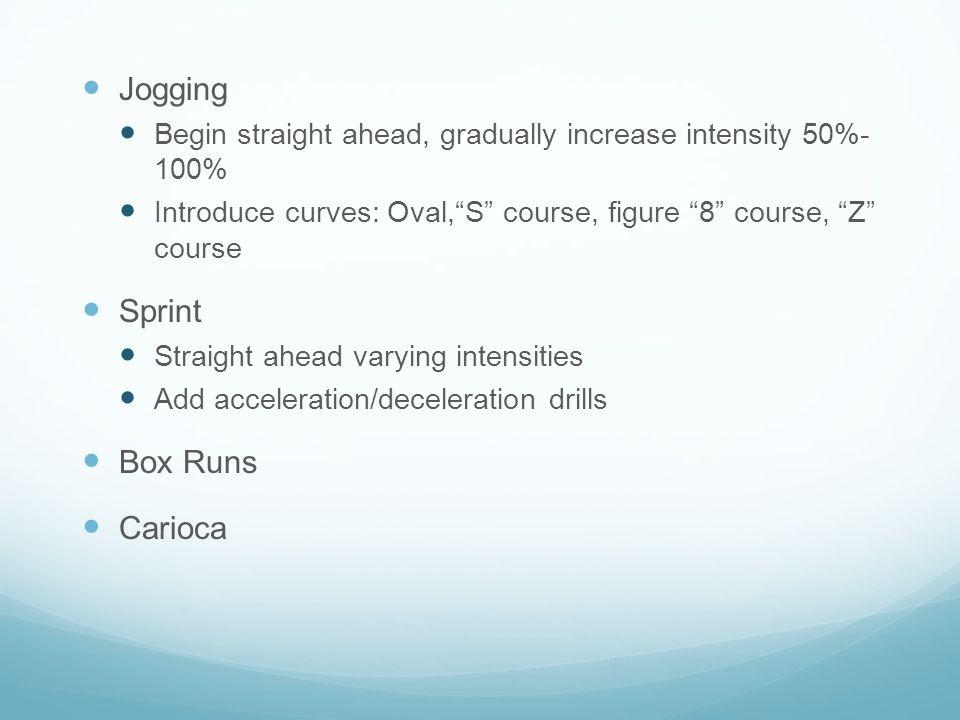 Jogging Sprint Box Runs Carioca