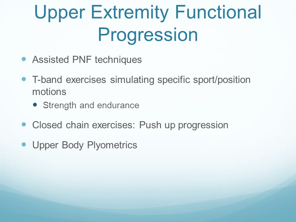 Upper Extremity Functional Progression