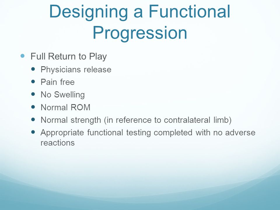 Designing a Functional Progression