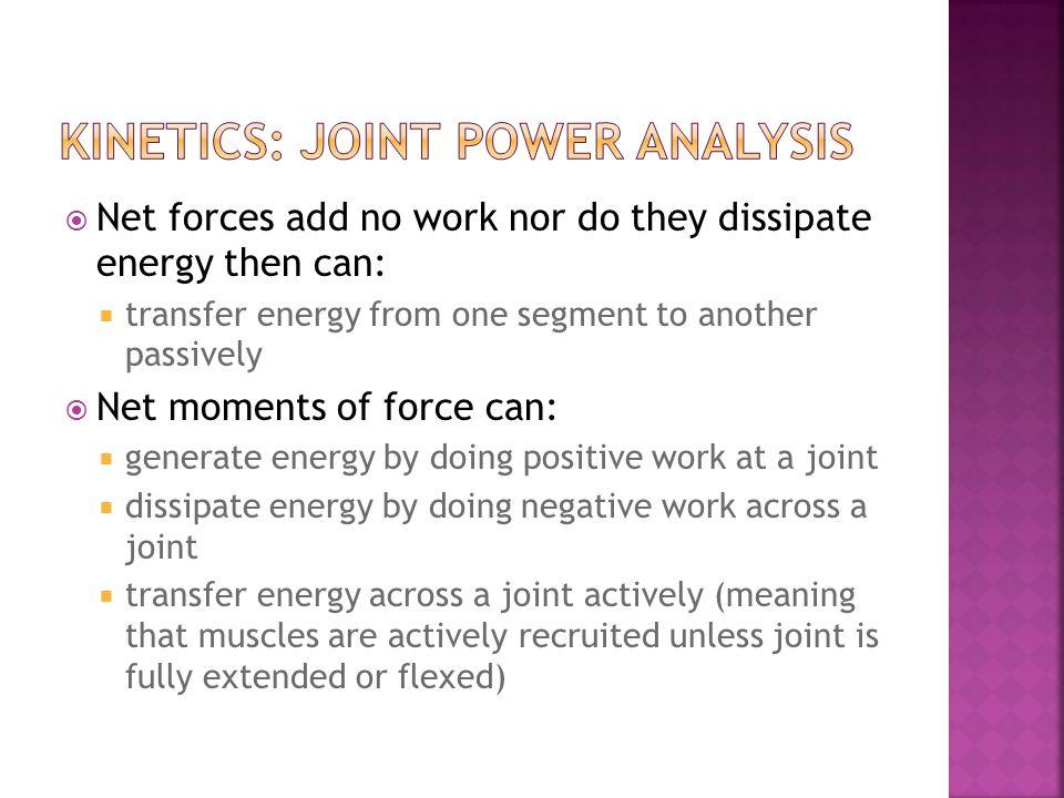 kinetics: joint power analysis