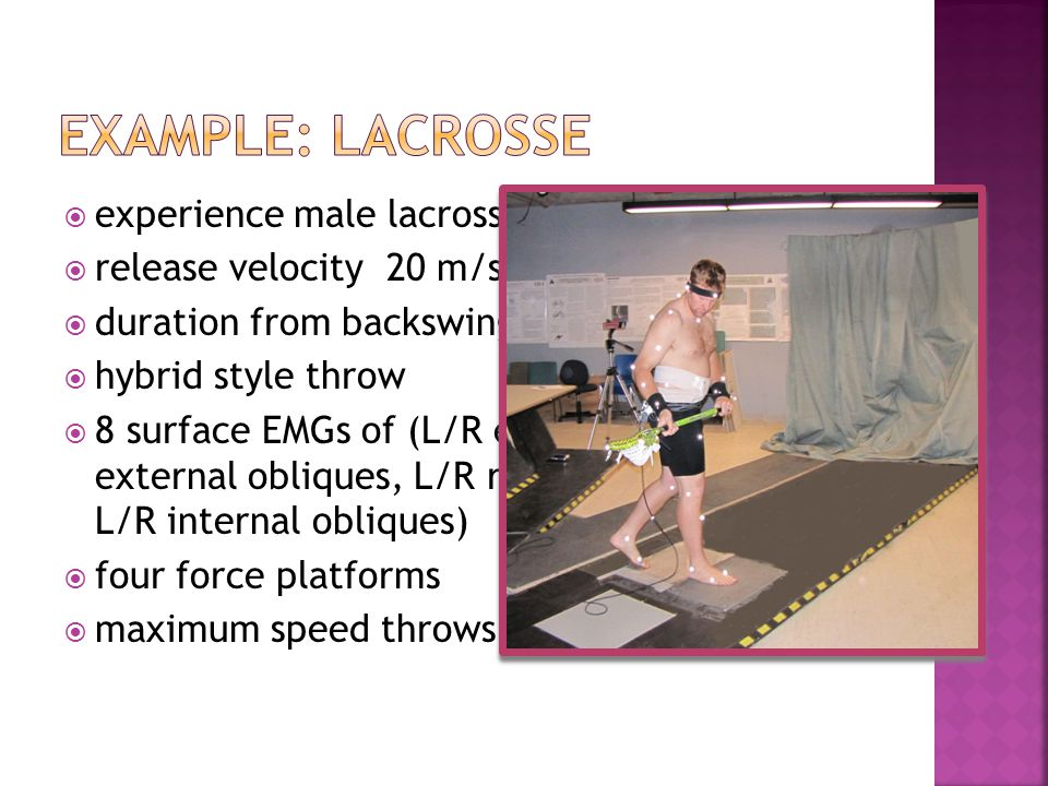 Example: lacrosse experience male lacrosse player