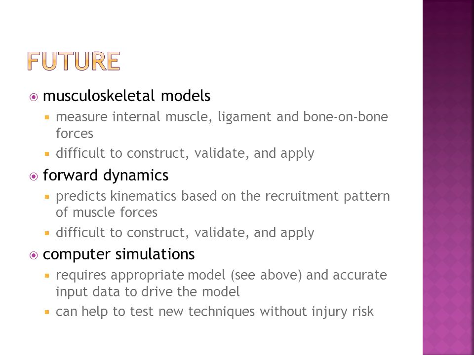 future musculoskeletal models forward dynamics computer simulations