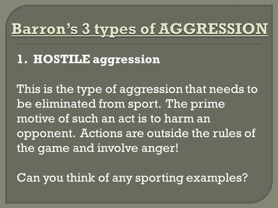 Barron's 3 types of AGGRESSION