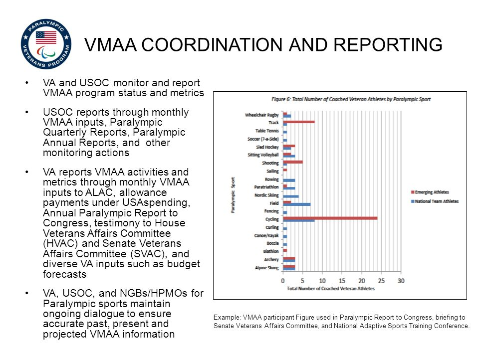VMAA coordination and Reporting