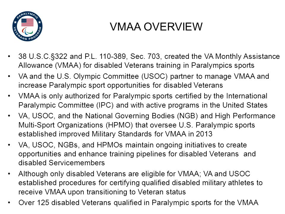 vMAA overview