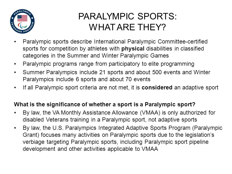 Paralympic sports: what ARE THEY