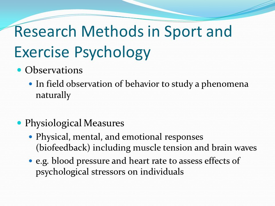 Research Methods in Sport and Exercise Psychology