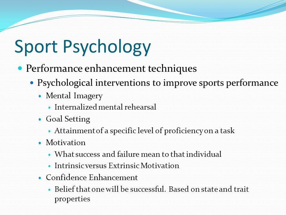 Sport Psychology Performance enhancement techniques