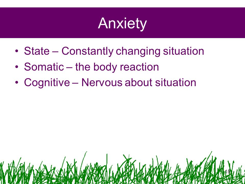 Anxiety State – Constantly changing situation