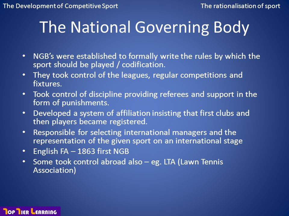 The National Governing Body