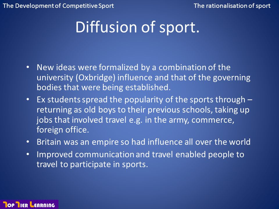The Development of Competitive Sport