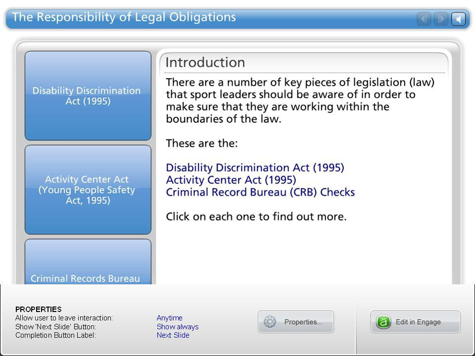 The Responsibility of Legal Obligations