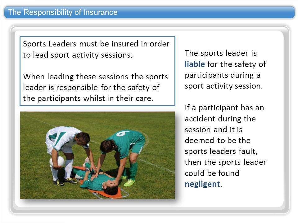 The Responsibility of Insurance