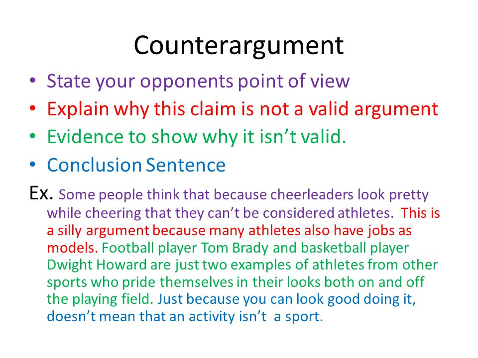 argumentative essay in sports