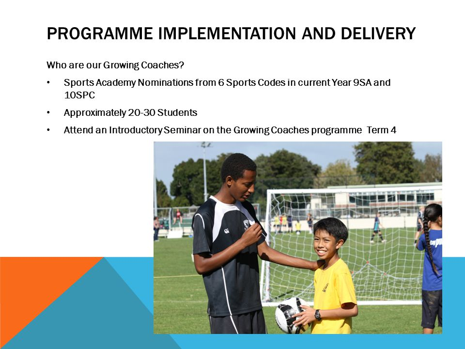 Programme Implementation and Delivery