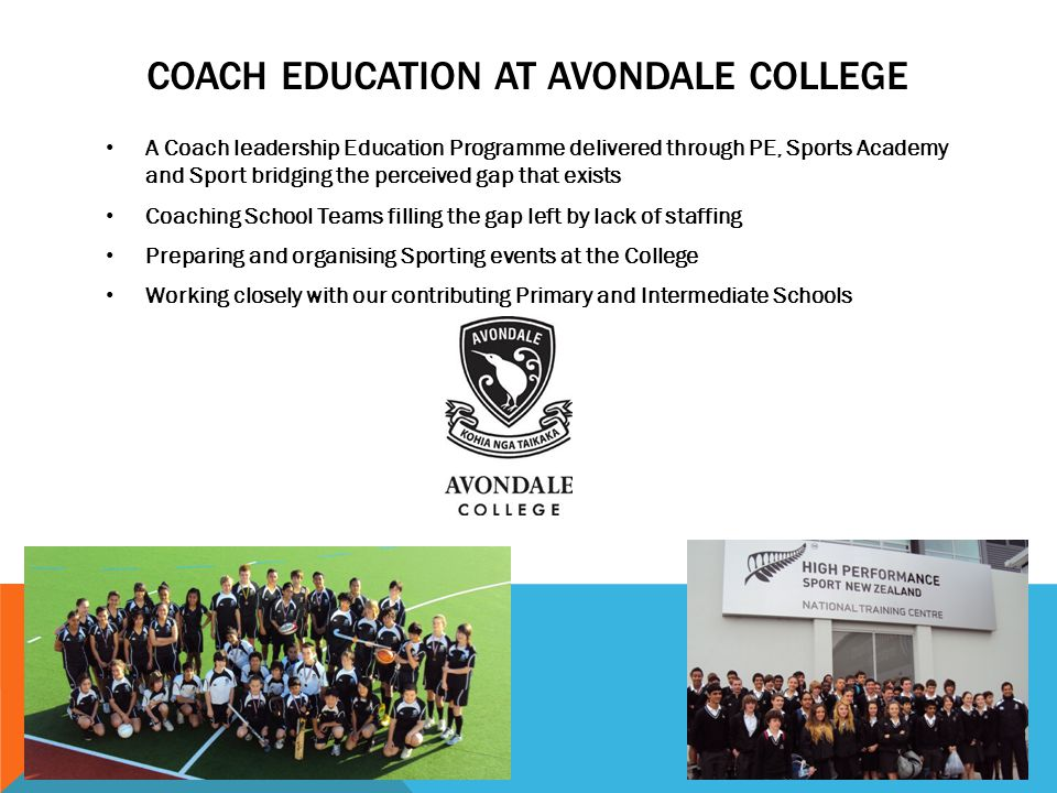 Coach Education at Avondale College