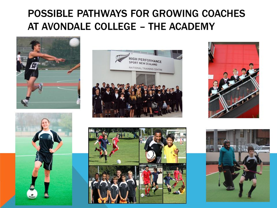 Possible Pathways for growing Coaches at Avondale COLLEGE – the Academy