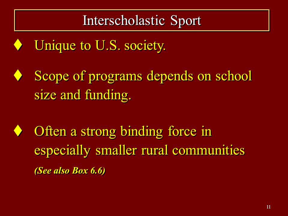 Interscholastic Sport