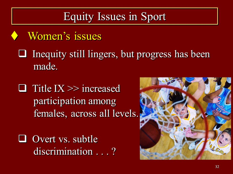Equity Issues in Sport Women's issues