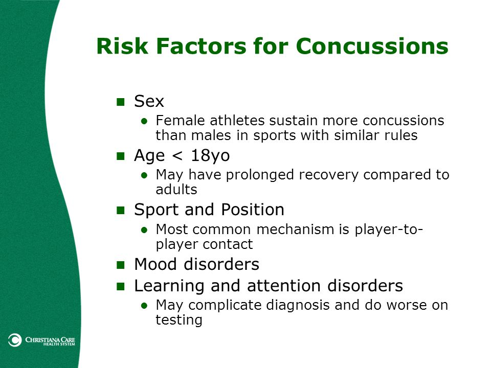 Risk Factors for Concussions