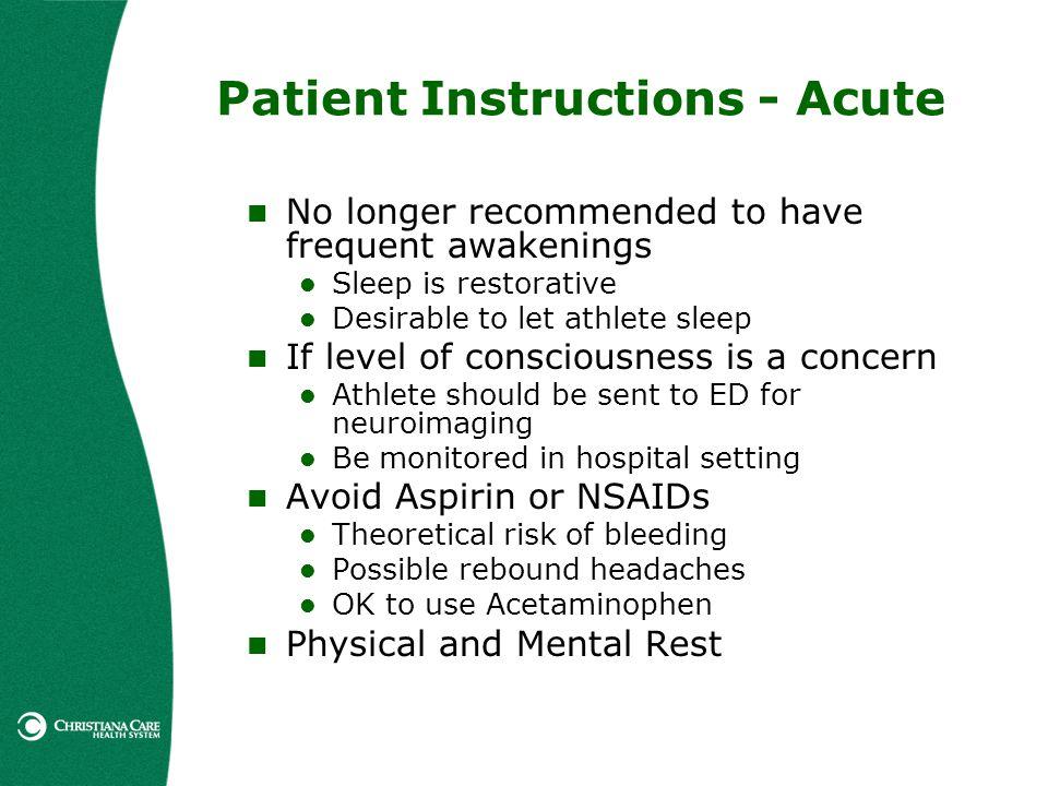 Patient Instructions - Acute