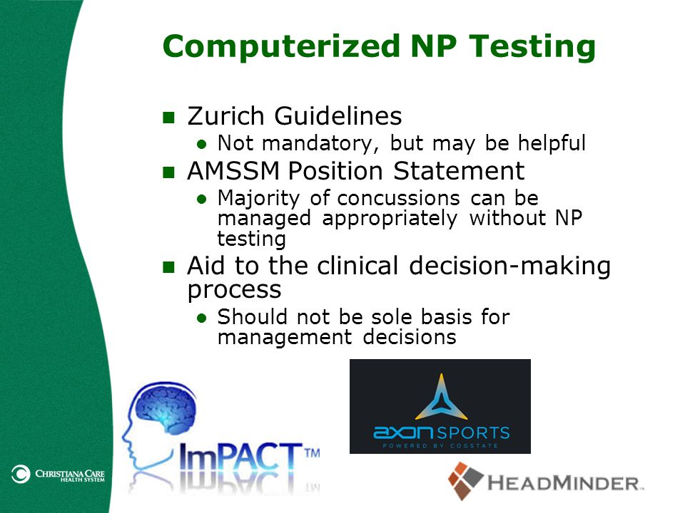 Computerized NP Testing