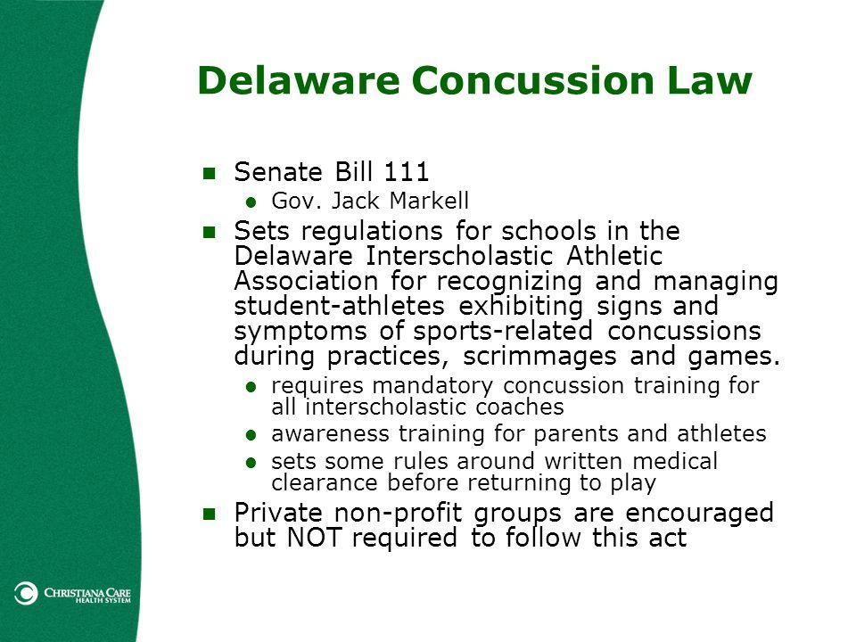 Delaware Concussion Law