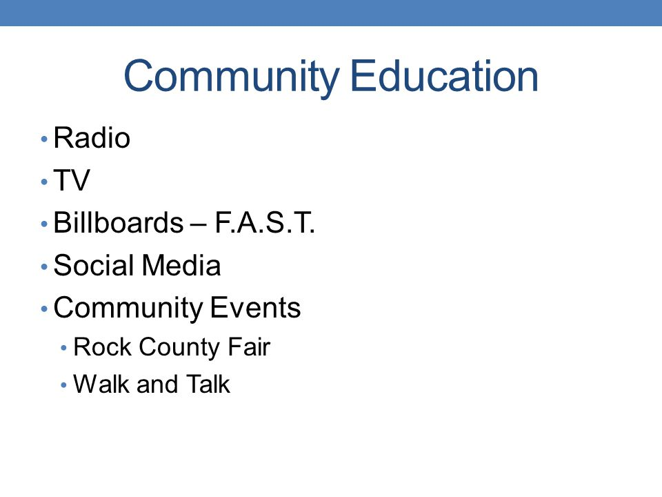 Community Education Radio TV Billboards – F.A.S.T. Social Media